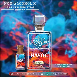 Havoc - Attar (roll On Perfume Oil) - ( Long Lasting Concentrated Alcohol Free …