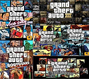 7 Mod Games Of Gta In One Dvd For Pc - 100% Working Dvd Warranty