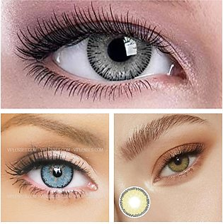 3pair Soft Eyes Contacts Lenses Pack Hazel ; Grey ; Blue Color With Contacts Le…