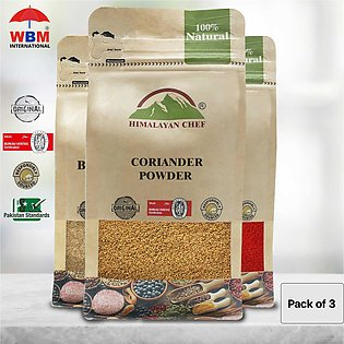 Pack Of 3- 100 G Each (himalayan Chef Black Pepper,coriander And Red Chilli Pow…