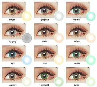 Pair Of Soft Contact Lens With Water Solution Kit - All Colors