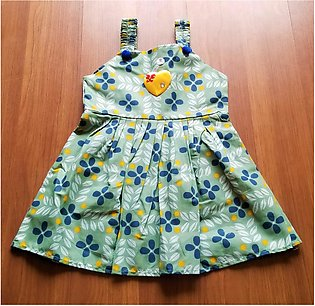 Baby Toddler Kids Frock , Girl Summer Premium Cotton Floral Frocks In 3 Prints