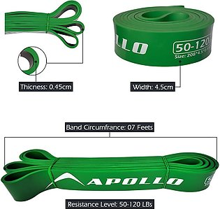 Apollo 1pc Green Latex Large Loop Resistance Band For Chin Up Exercise Stretch …