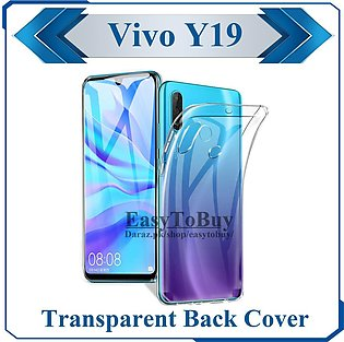 Vivo Y19 Transparent Back Cover Clear Crystal Cover For Y19