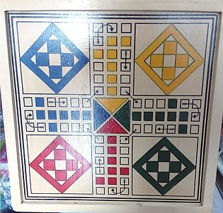 High Quality Large Size 4-player Wooden Ludo
