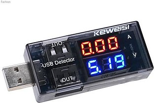 Dual Usb Detector Current Voltage 3v-9v Tester Double Usb Row Shows