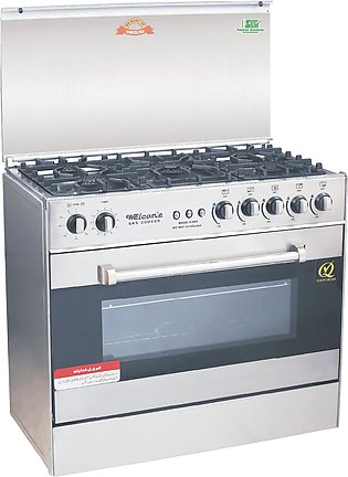 Welcome 5 Burner Gas Cooking Range Wc-4000 - Grey And Black