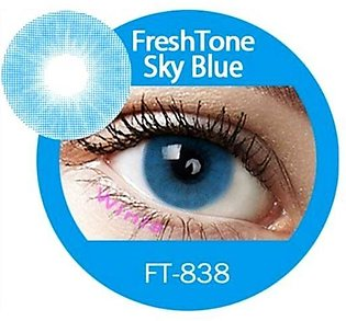 Pair Of Blue Eye Contacts Lens With Water Kit And Lens Box
