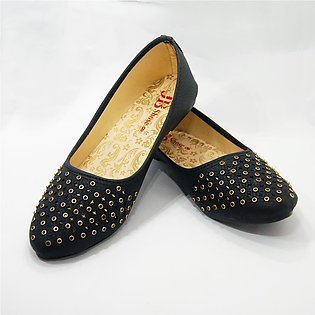 Flat Moccasion For Women (wither Black)