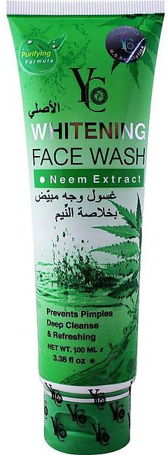 Yc Whitening Face Wash, With Neem Extract, 100ml / Thailand Product