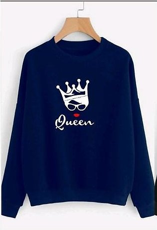 Fashion Stop Quee Printed Sweat Shirt For Womens And Girl Both (winter Arrival)