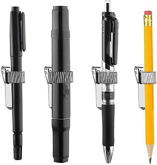 Stainless Pen Holder Clip for Notebook and Clipboard with Spring