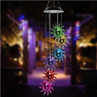 Color Changing RGB Solar Powered Solar Powered Wind Chimes Light Lamp Hanging L…