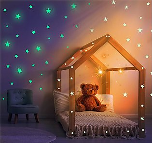 200 Pcs 3D star wall stickers wall decoration for kids room