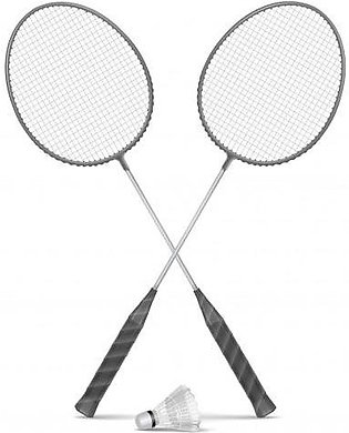Pair of Badminton Rackets & Shuttle Sports Fitness