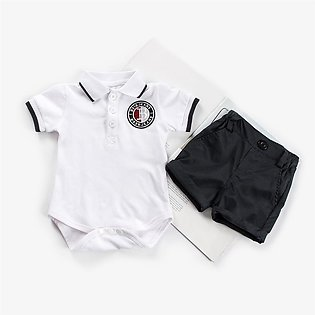 Baby Boy Gentleman Suits Short Sleeve Romper Shirt Shorts Clothes Set