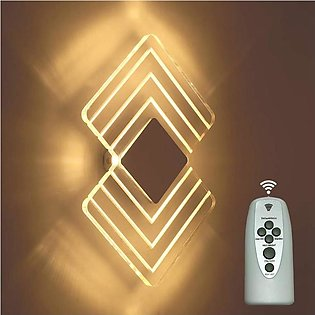 Remote Controlled LED Wall Lights 6W 3000K Decorative Wall Lamp for Bedroom Liv…