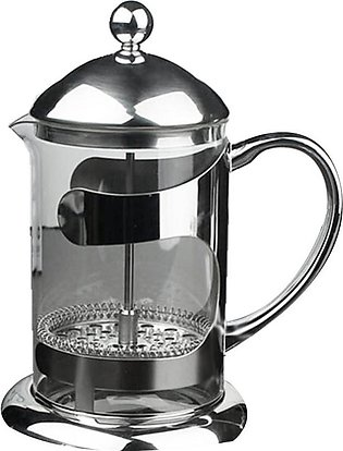 300Ml Stainless Steel French Press Tea Pot High Temperature Resistant Glass Cof…