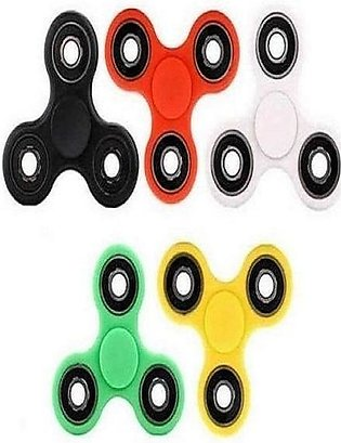 Pack of 5 - Fidget Spinners Stress Reducer Toy - Multicolour