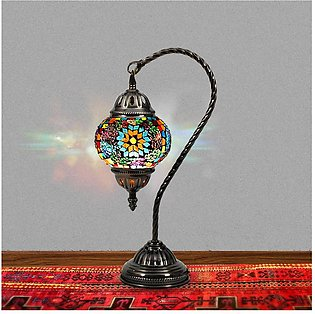 Electric Table Lamps- High Quality Home Decor Stainless Steel Vintage Turkish L…