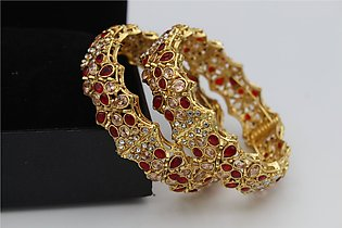 Stylish Stones Indian Bangles For Her