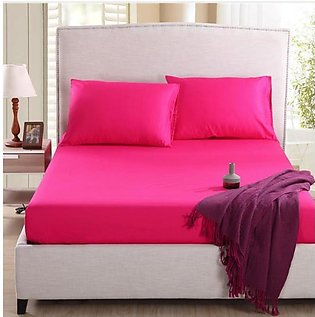 Cotton Fitted bedSheet And Pillow Cover(new)