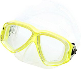 TE AM-308 Adult Double Layer Waterproof Anti-fog Silicone Diving Mask Goggles