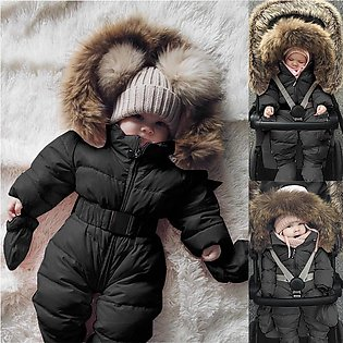 Baby Lovely Winter Infant Boy Girl Romper Jacket Hooded Jumpsuit Warm Thick Coa…