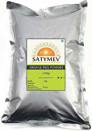 Satymev Orange Peel Powder Used In Cosmetics Face Mask Face Pack100G