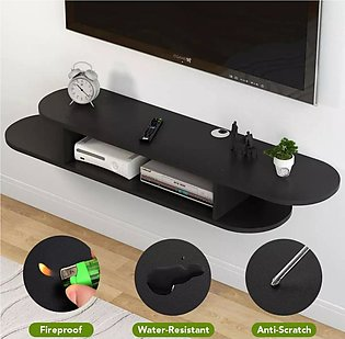 2 Tier Modern Wall Mount Floating Shelf TV Console 40x10x10 inch for Cable Boxe…