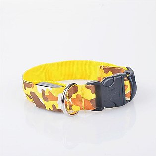 Camouflage Design Night Safety Glowing LED Dog Collar Anti-Lost Light Collar