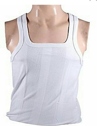 Pack Of 6 - Mercurry White Cotton Sleeveless Vests - For Men - Comfortable