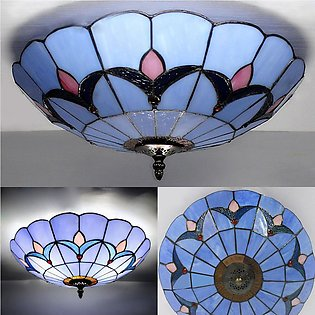 【Special Offer】Stained Glass Ceiling Flush Mount Ceiling Light Lamp Chandelier …