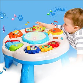 Music Learning Table Multifunctional Game Table Early Educational Toy for Kids
