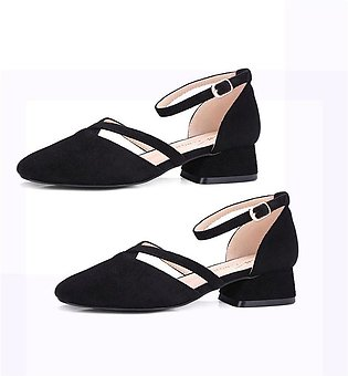 Women'S Shoes With Thick Single Shoes Female Head Shallow Mouth
