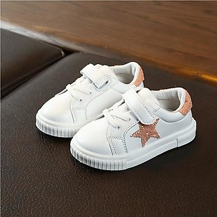 Beautiful Bling Star Flat Sport Sneakers For Baby Girl