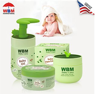WBM Baby Care Bath Products  Nourish Skin, Oil, Baby Powder & Baby Face Cream (…