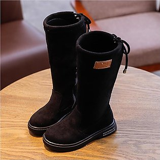 Toddler Infant Kids Baby Boys Girls Fashion Flock Long Outdoor Shoes Boots