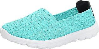 Fashion Women Casual Sports Shoes Woven Breathable Flat Sandals Beach Shoes