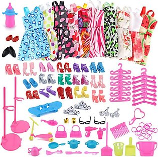 10PCS Barbie Doll Clothes Shoes Accessories for Best Gift Girl Toy