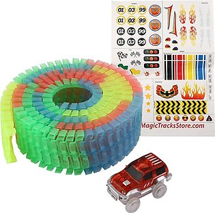 DIY Fun Puzzle Toy Car Track Electronics Rail Toys for Children Boys Colorful