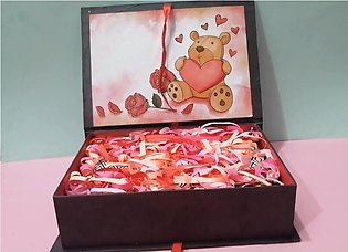 Love Box with Chocolates, Candies and a beautiful love card