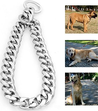 14-26'' 13mm Silver Stainless Steel Link Dog Choke Chain Pet Training Collars #…