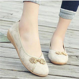 2019 spring and summer new national style retro single shoes old Beijing cloth …