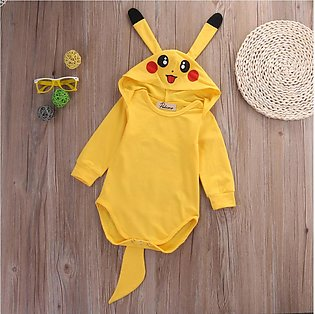 Infant Baby Boy Girl Pikachu Outfit Jumpsuit Rompers Cosplay Halloween Costume