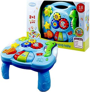 Baby Music Table Toy Kids Learning Study Playing Toy Musical Instruments Educat…