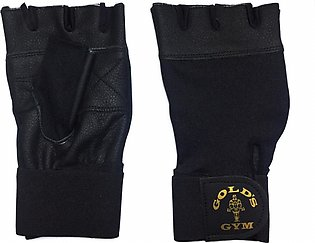 Leather Half fingure gloves.WEIGHT LIFTING GLOVES Genuine Black Leather Gym Glo…