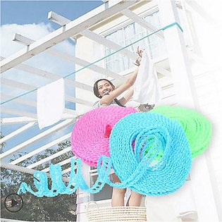 Windproof 5 m Clothesline Adjustable Strength Nylon Durable Anti Slip Drying Cl…