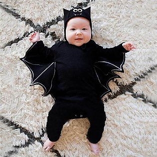 Halloween Newborn Baby Boy Girl Cosplay Costume Romper Jumpsuit Hat Outfits Set