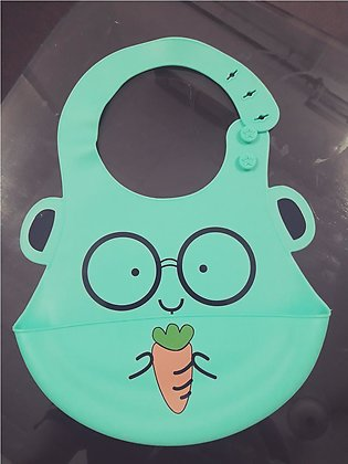 Baby Silicon Bib for Kids With Deep Spill Pocket